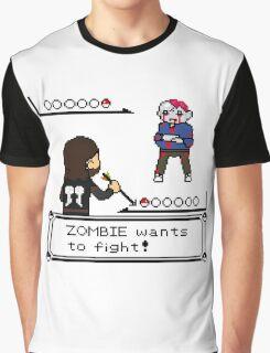 The Walking Dead / Pokemon Fanart Graphic T-Shirt