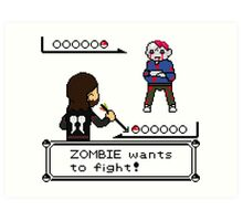 The Walking Dead / Pokemon Fanart Art Print