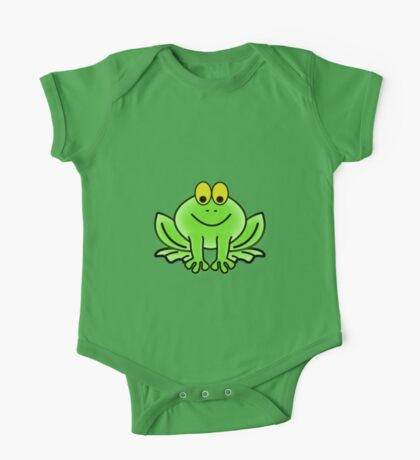 Green Cartoon frog One Piece - Short Sleeve