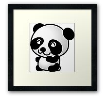 Cartoon Panda Framed Print