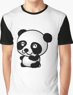 Cartoon Panda Graphic T-Shirt
