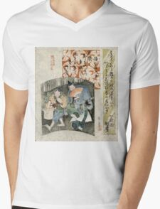 Comedy - Gogaku Yajima - c1825 - woodcut Mens V-Neck T-Shirt