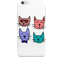 Cool Cartoon Cats iPhone Case/Skin