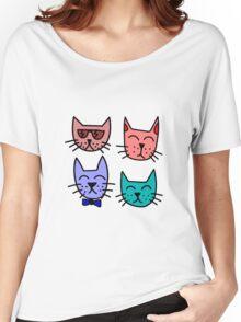 Cool Cartoon Cats Women's Relaxed Fit T-Shirt