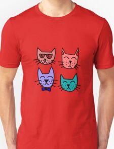 Cool Cartoon Cats Unisex T-Shirt