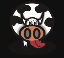 Cartoon Cow One Piece - Short Sleeve