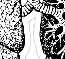 drawn black and white lungs Sticker