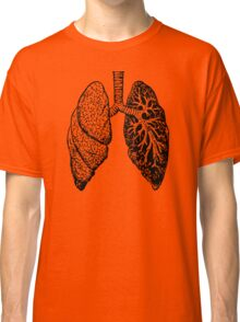 drawn black and white lungs Classic T-Shirt