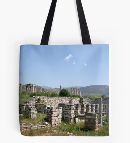 The Courtyard Of The Bishops Palace Aphrodisias Turkey Tote Bag