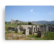 The Courtyard Of The Bishops Palace Aphrodisias Turkey Canvas Print