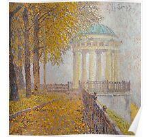 Rotunda at Neskuchny garden Poster