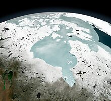Hudson Bay sea ice on April 29, 2006. by StocktrekImages