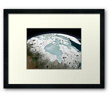 Hudson Bay sea ice on April 29, 2006. Framed Print
