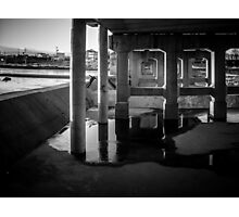 Under the bridge - skateboarding Photographic Print