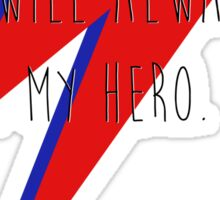 DAVID BOWIE HERO Sticker