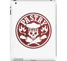 Pastry Chef Skull Logo Red iPad Case/Skin