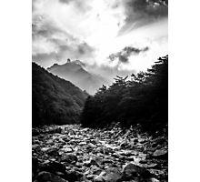 Seoraksan - Black and White Photographic Print