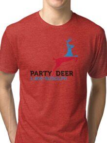 Political Party Animals: Reindeer Tri-blend T-Shirt