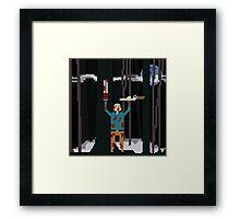 Ash versus The Evil Dead Pixel fanart Framed Print