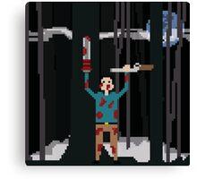 Ash versus The Evil Dead Pixel fanart Canvas Print