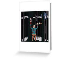 Ash versus The Evil Dead Pixel fanart Greeting Card