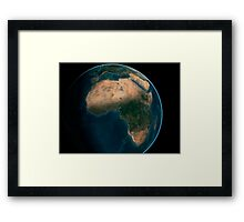Full Earth from space above the African continent.  Framed Print