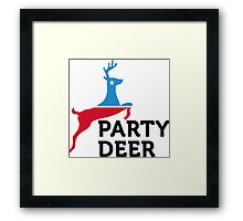 Political Party Animals: Reindeer Framed Print