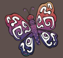 Cartoon Pretty Butterfly Kids Tee
