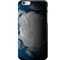 Ful Earth showing simulated clouds over Antarctica. iPhone Case/Skin