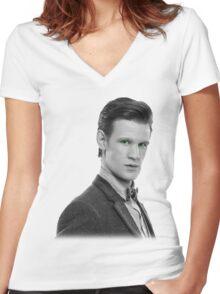 Matt Smith, Dr. Who Women's Fitted V-Neck T-Shirt