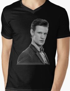 Matt Smith, Dr. Who Mens V-Neck T-Shirt