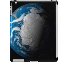 Full Earth showing simulated clouds over Antarctica. iPad Case/Skin