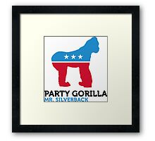Political Party Animals: Gorilla Framed Print