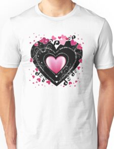 I Love You - Hearts Unisex T-Shirt