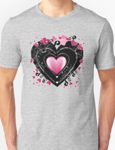 I_Love_You Hearts Unisex T-Shirt