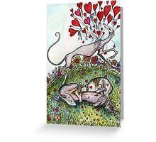 The Hound of Hearts Greeting Card