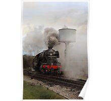 Flying Scotsman getting under steam. Poster