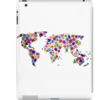 Map of the World Continents Flower Design iPad Case/Skin