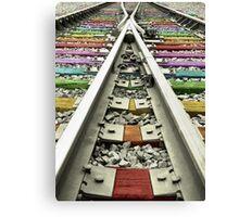 Rainbow Train Track  Canvas Print