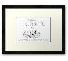 In Loving Memory - Jeremiah Unsworth Undertakers Framed Print