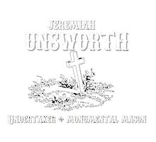 In Loving Memory - Jeremiah Unsworth Undertakers Photographic Print