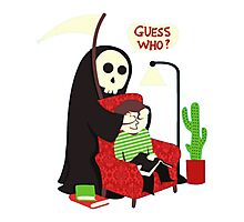 funny grim reaper Photographic Print