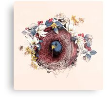 Nesting - Another Bird Has Found It's Nest Metal Print