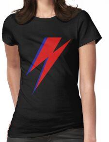 DAVID BOWIE LIGHTENING Womens Fitted T-Shirt
