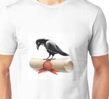 Black raven and diploma Unisex T-Shirt