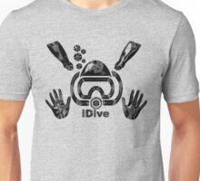 Idive Scuba Dive Liquid Black Original Digital Art Unisex T-Shirt