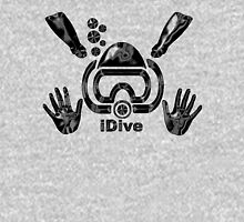 Idive Scuba Dive Liquid Black Original Digital Art Unisex T-Shirt