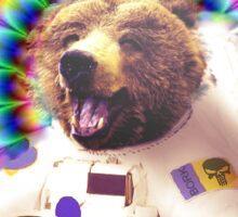 Psychadelic Astronaut Bear Sticker