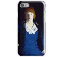 George Wesley Bellows (), PORTRAIT OF FLORENCE PIERCE iPhone Case/Skin