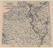 February 21 1945 World War II HQ Twelfth Army Group situation map Photographic Print